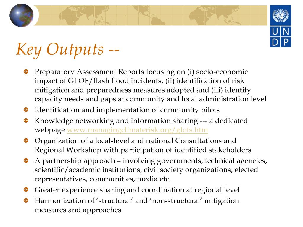 Key Outputs --