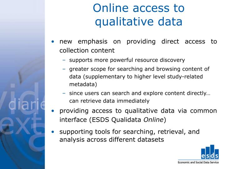 Online access to