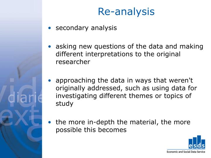 Re-analysis
