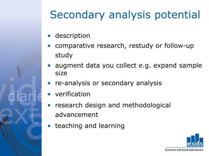 Secondary analysis potential