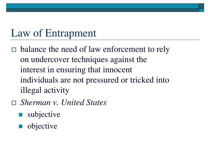 Law of Entrapment