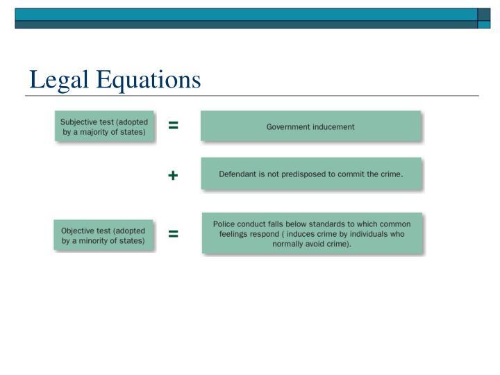 Legal Equations