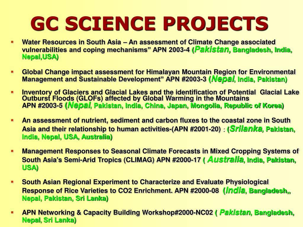 GC SCIENCE PROJECTS