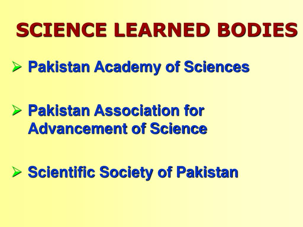 SCIENCE LEARNED BODIES
