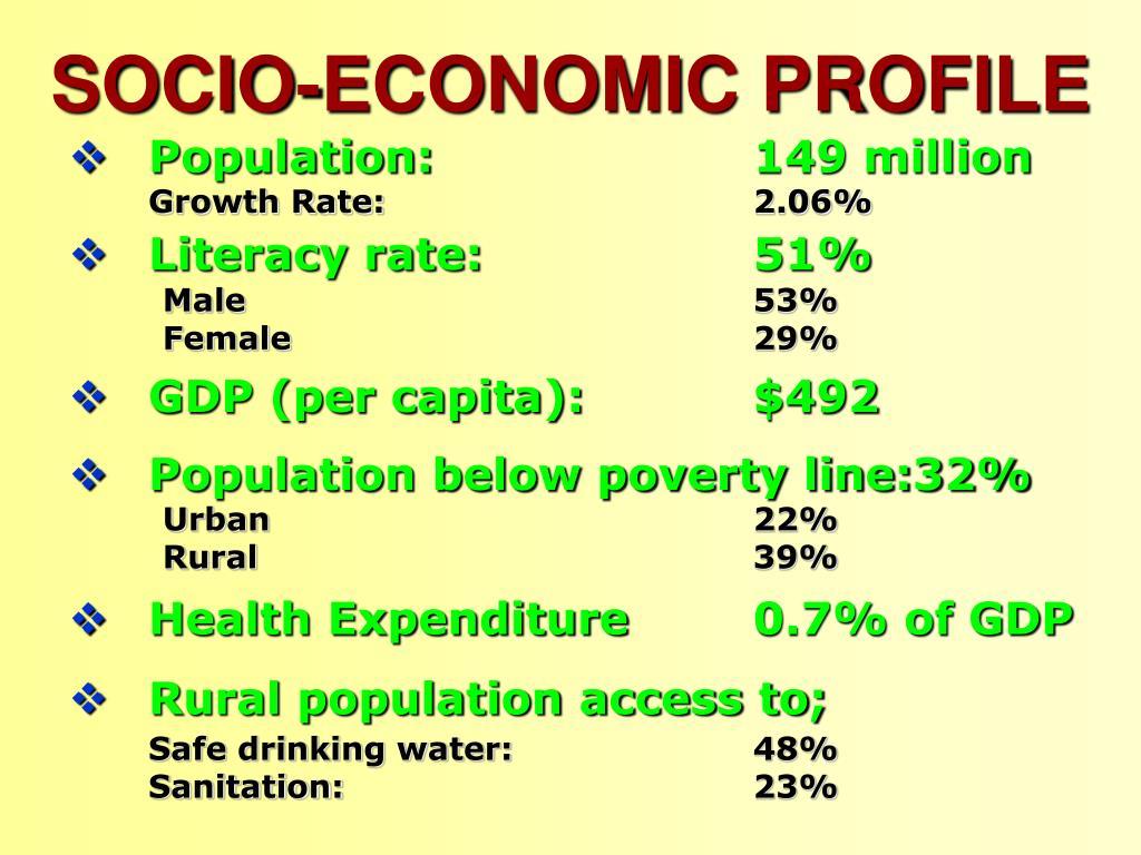 SOCIO-ECONOMIC PROFILE