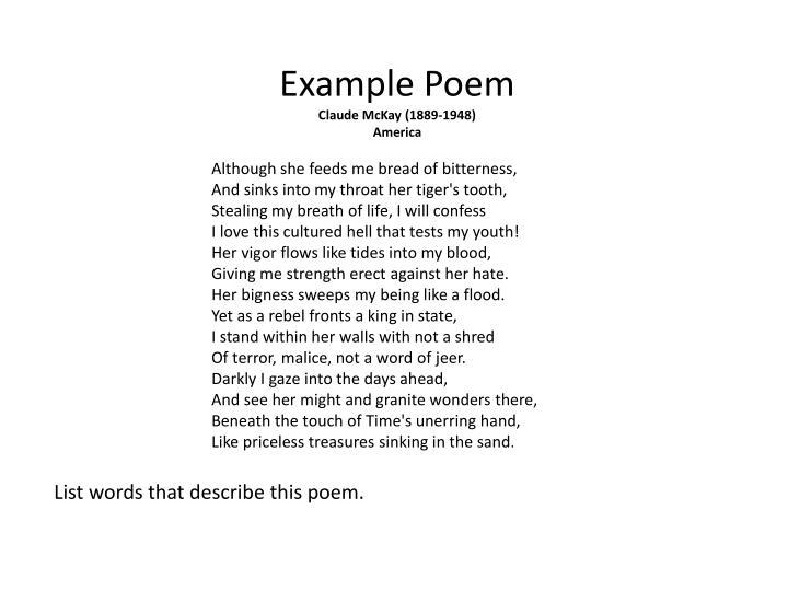 Example Poem