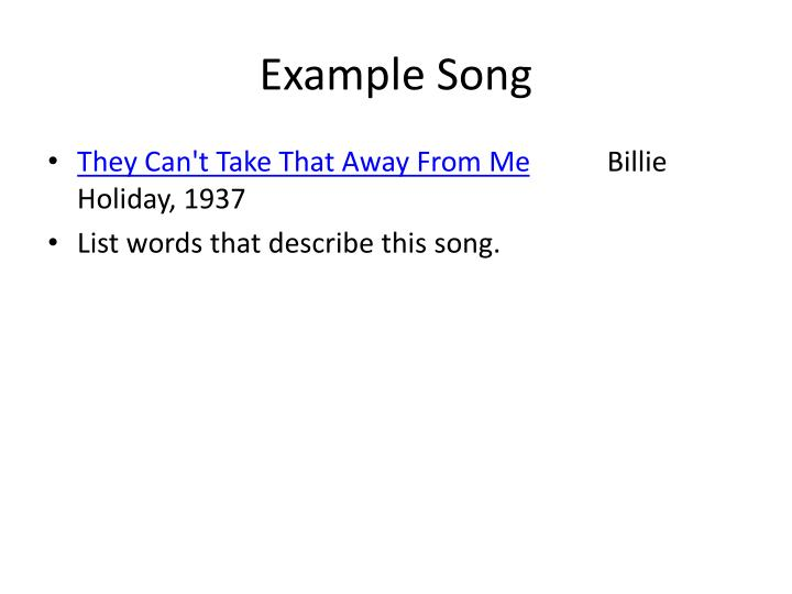 Example Song