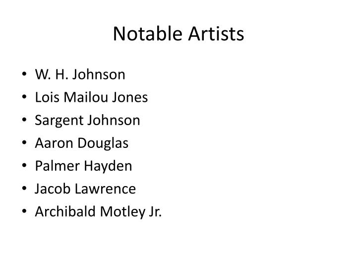Notable Artists