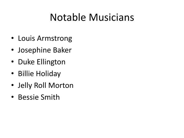 Notable Musicians