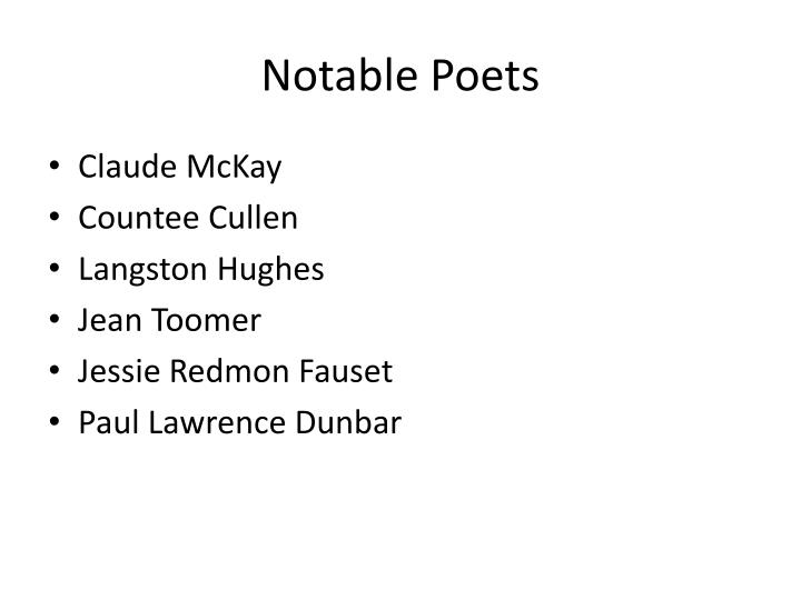 Notable Poets