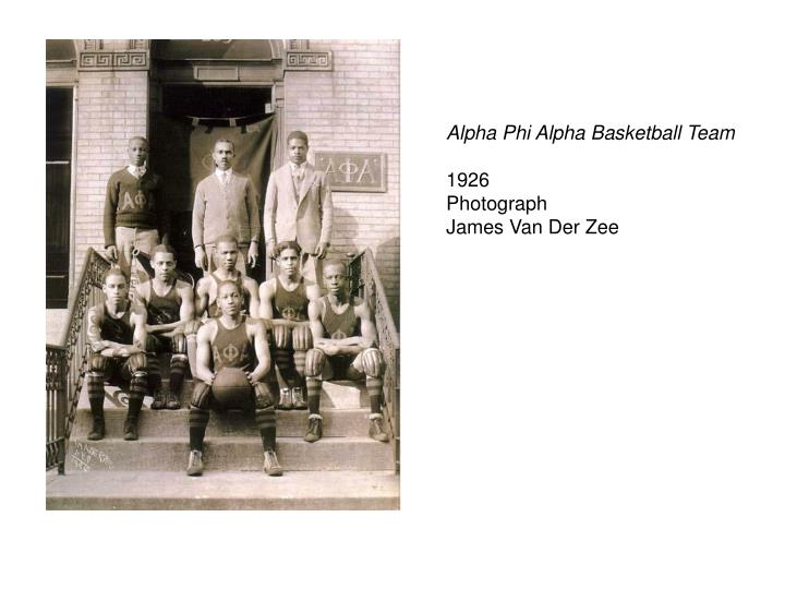 Alpha Phi Alpha Basketball Team