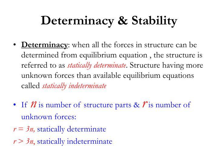 Determinacy & Stability