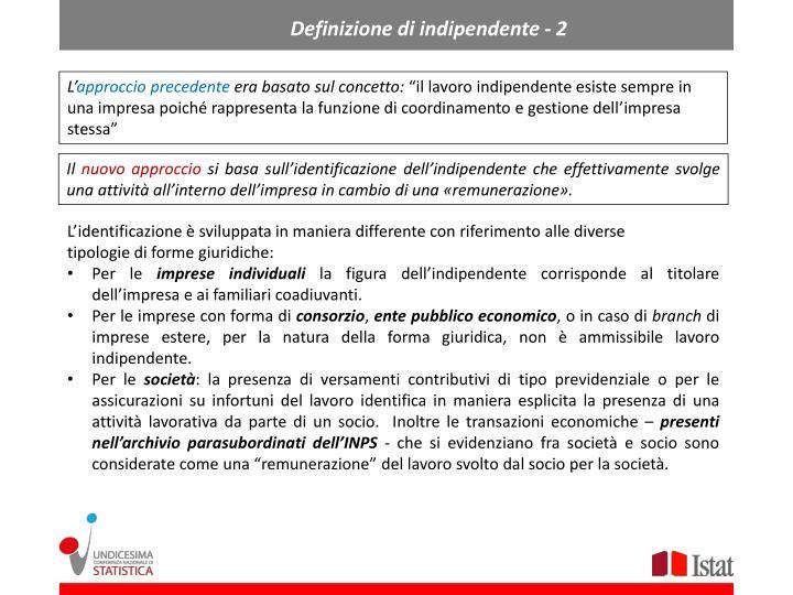 Definizione di indipendente - 2