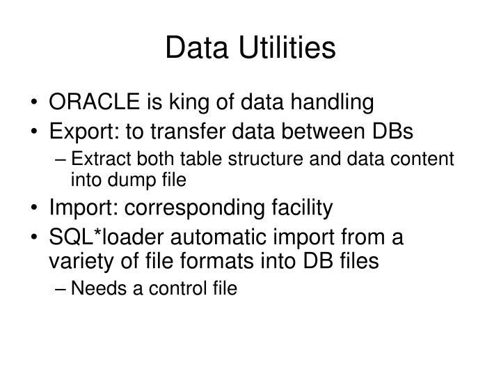 Data Utilities