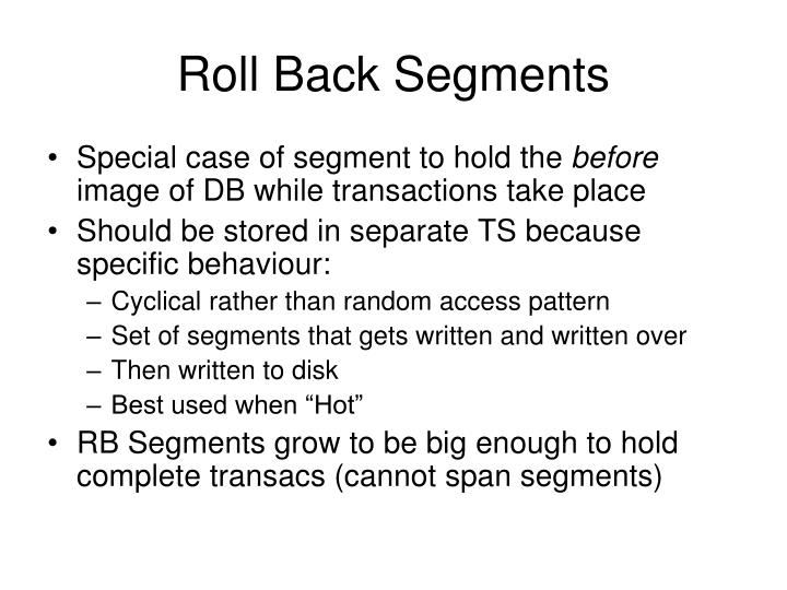 Roll Back Segments
