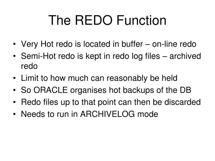 The REDO Function