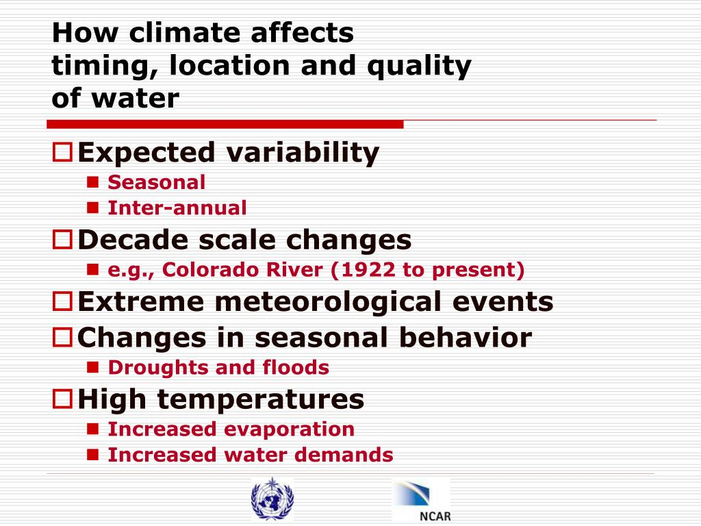 How climate affects