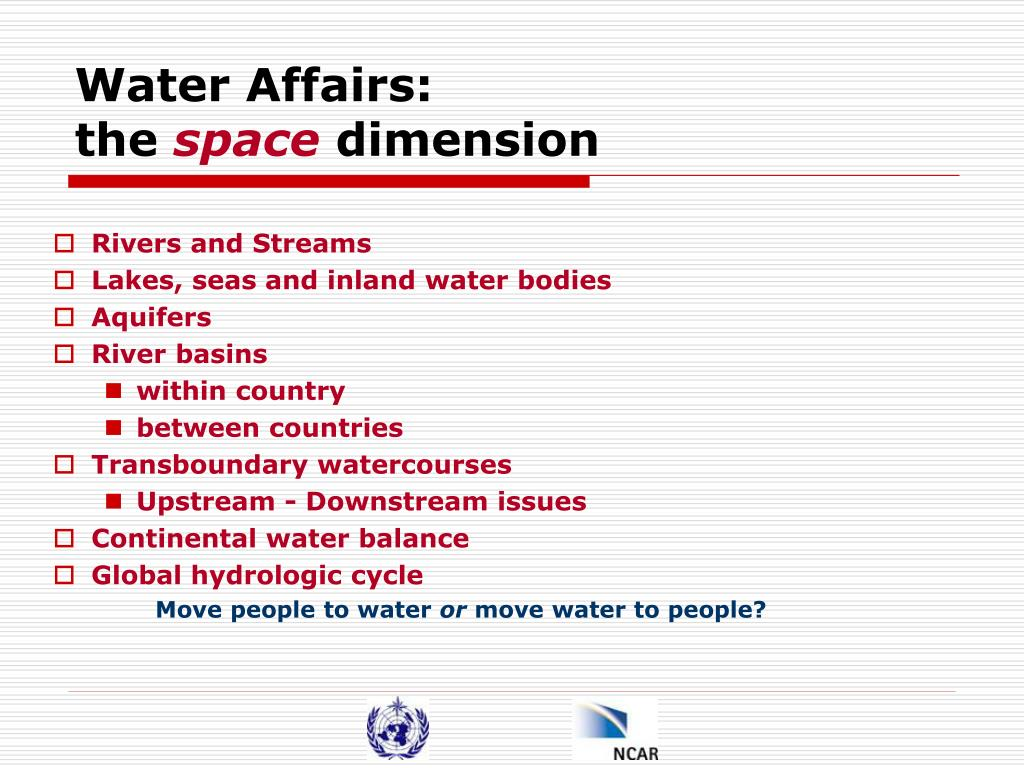 Water Affairs: