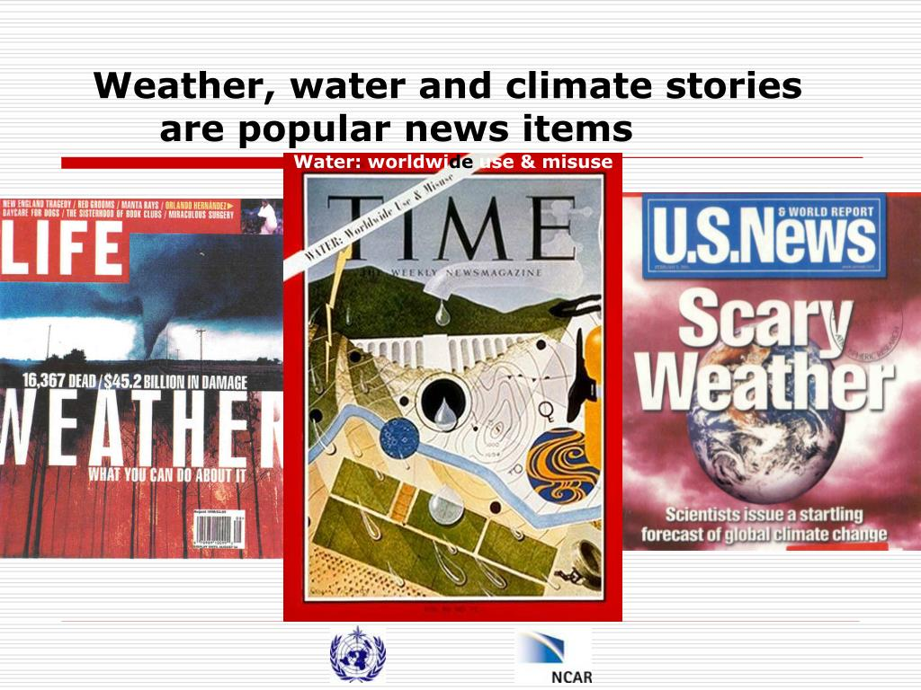 Weather, water and climate stories