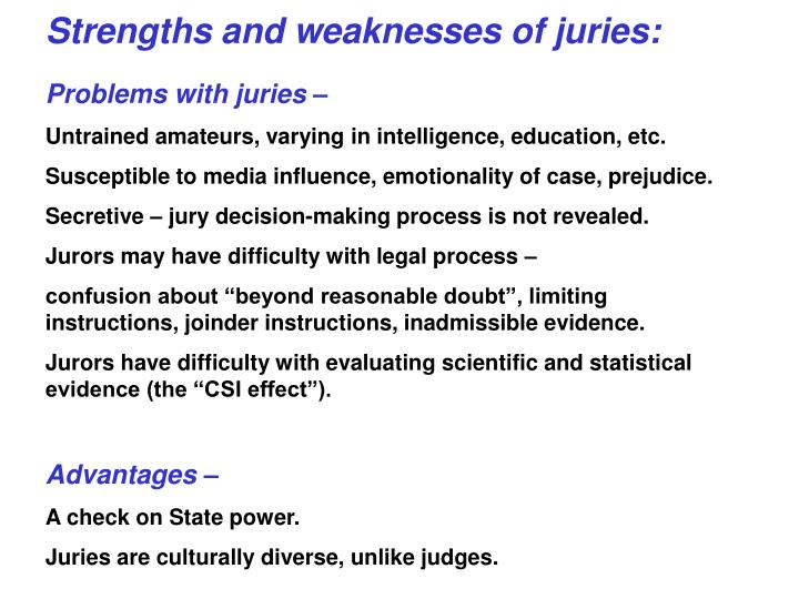jury decision making the state of the science psychology and crime