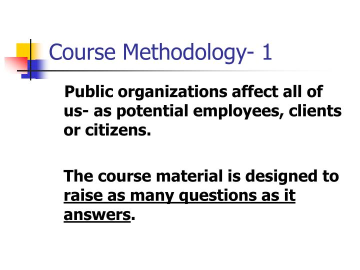 Course Methodology- 1
