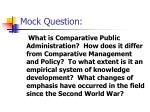 mock question