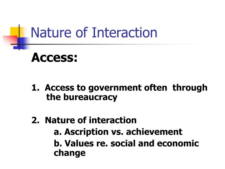 Nature of Interaction