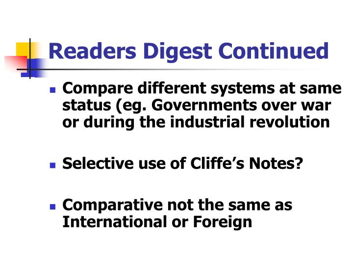 Readers Digest Continued
