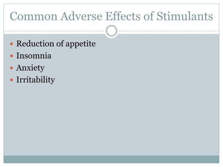 Common Adverse Effects of Stimulants
