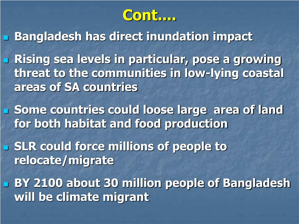 Bangladesh has direct inundation impact