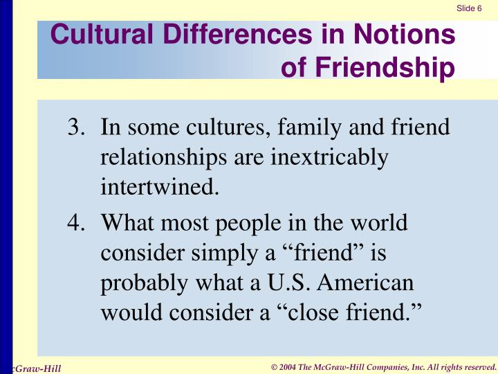 Cultural Differences in Notions of Friendship