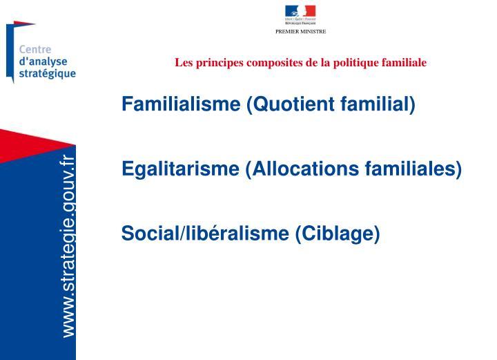 Les principes composites de la politique familiale