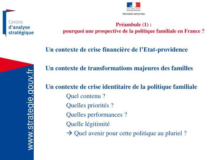 Préambule (1) :