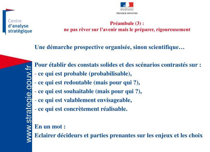 Préambule (3) :