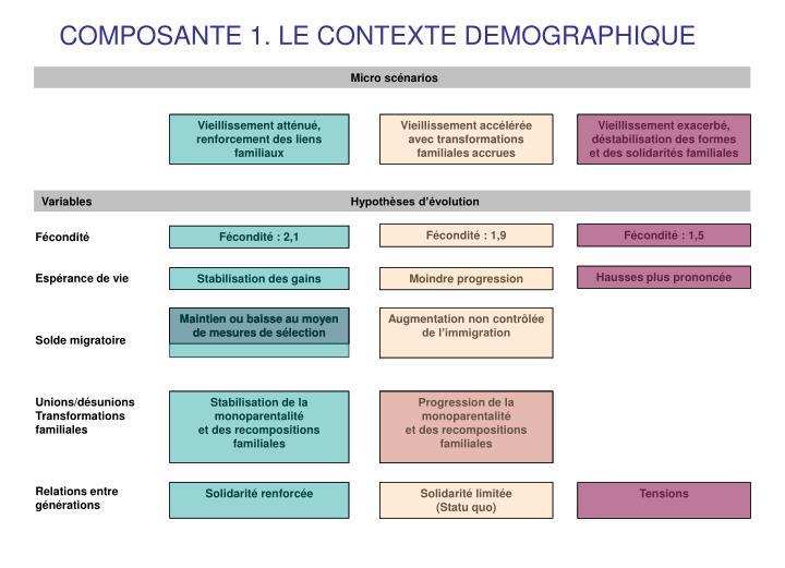 COMPOSANTE 1. LE CONTEXTE DEMOGRAPHIQUE