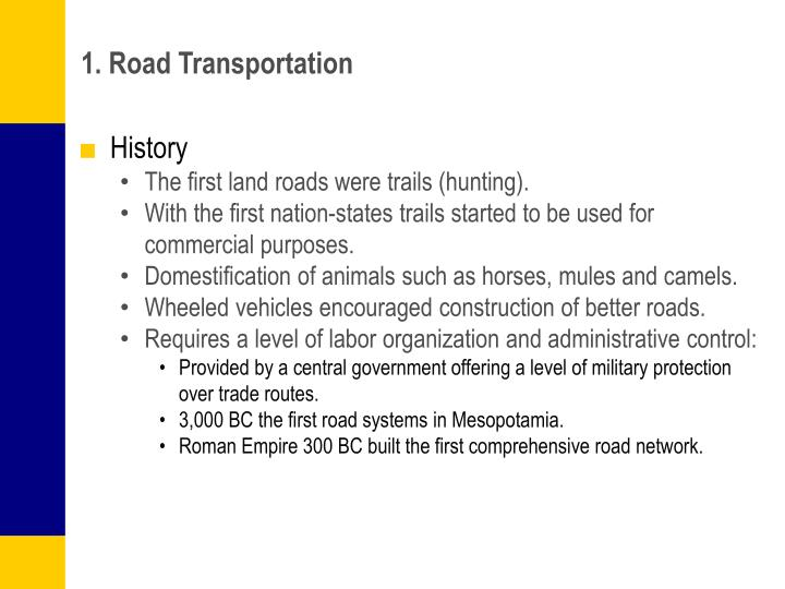 1. Road Transportation