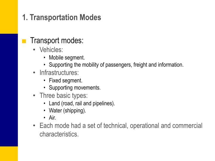 1. Transportation Modes