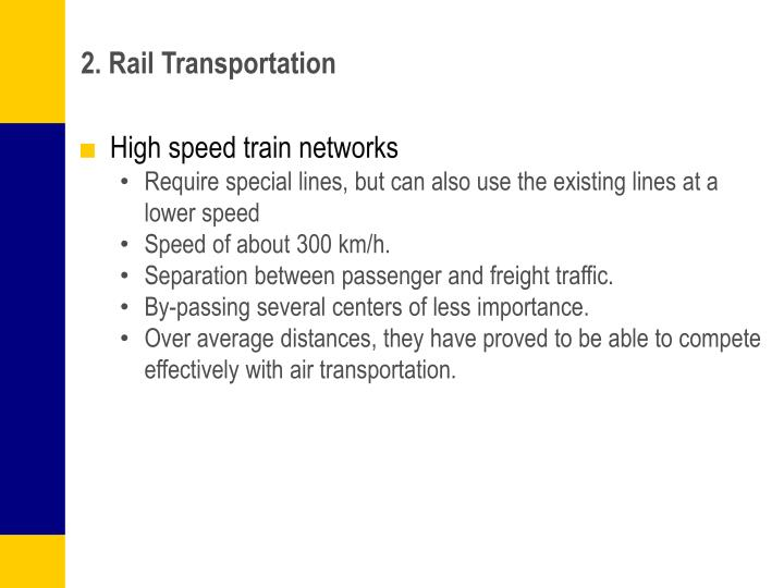 2. Rail Transportation
