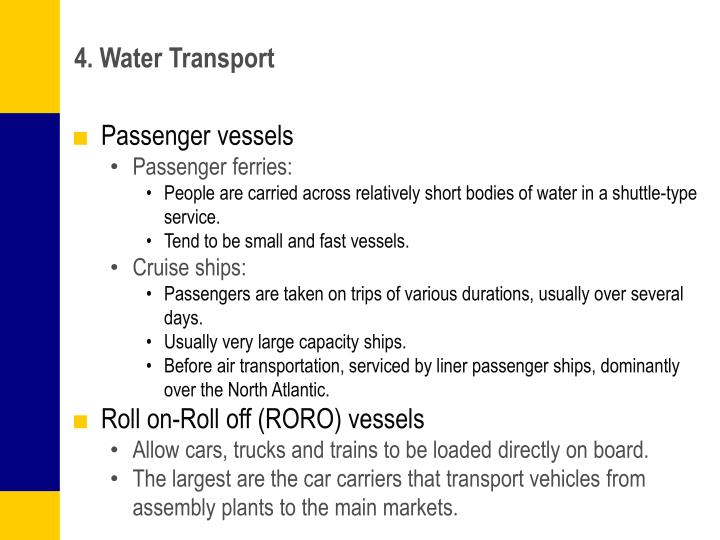 4. Water Transport