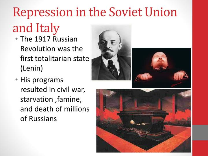 Repression in the Soviet Union and Italy