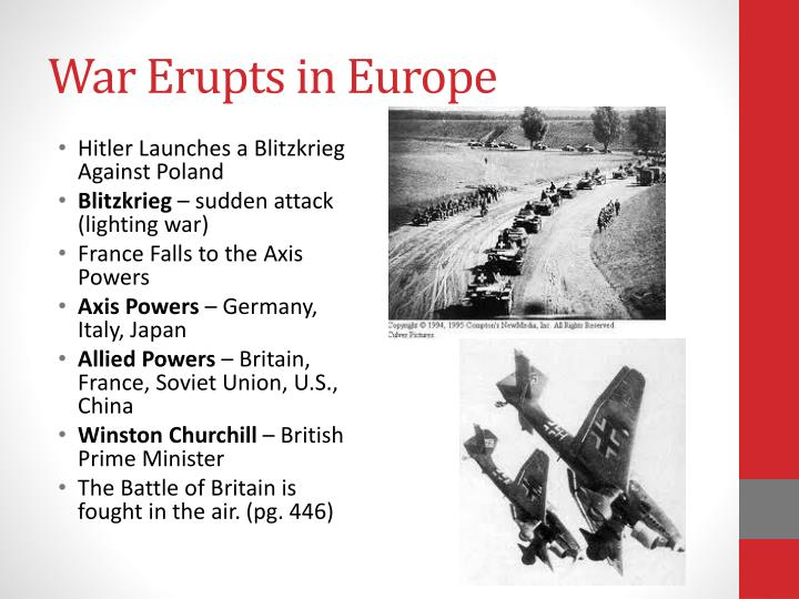 War Erupts in Europe