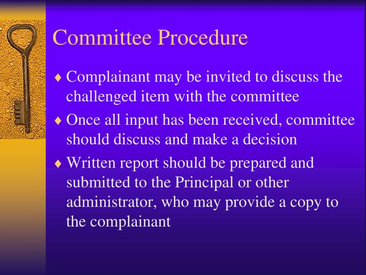 Committee Procedure