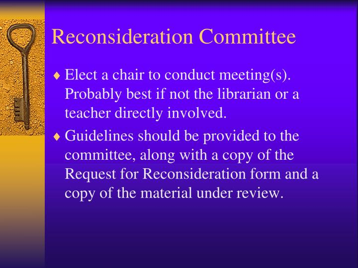 Reconsideration Committee
