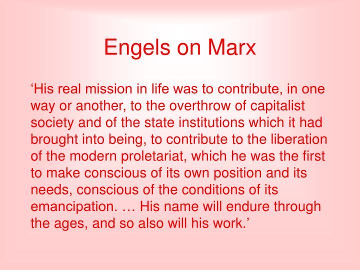 Engels on Marx