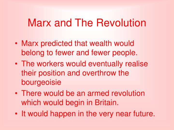 Marx and The Revolution