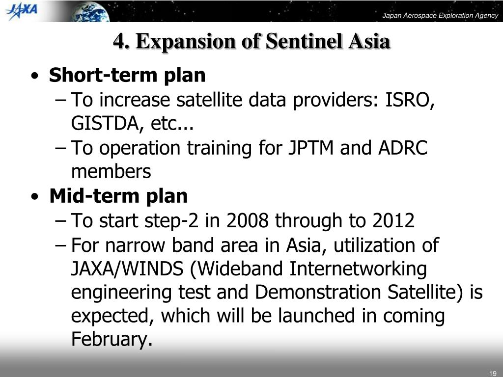 4. Expansion of Sentinel Asia