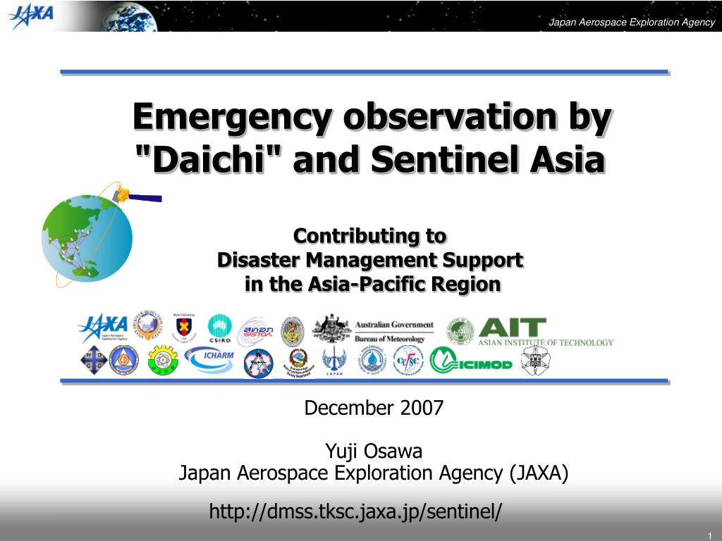 """Emergency observation by """"Daichi"""" and Sentinel Asia"""