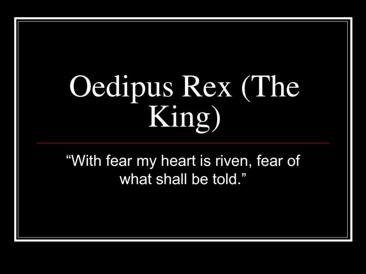 The pre oedipus story