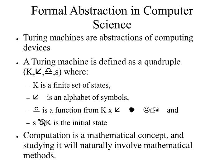 Formal Abstraction in Computer Science