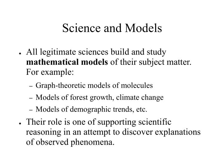 Science and models
